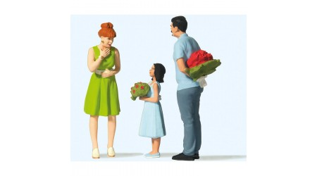 Preiser 44934 Überraschung mit Blumen