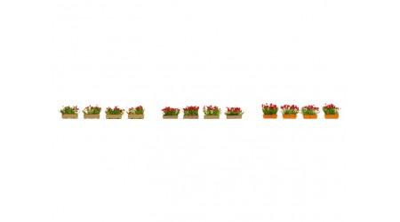 Noch 14010 Blumenkästen blühend rot