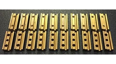 LEBU 18.SVB Schraubverbinder lang 20 mm - Messing (10 Stück)