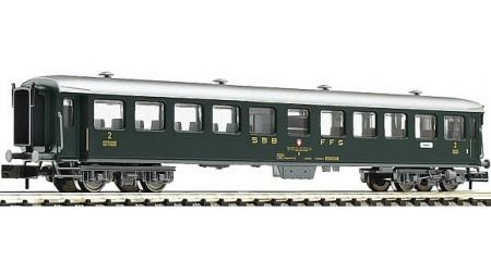Fleischmann 813905 Schnellzugwagen 2. Kl., Bauart B, der SBB, Epoche IV.