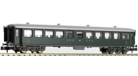 Fleischmann 813906 Schnellzugwagen 2. Kl., Bauart B, der SBB, Epoche III