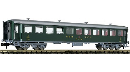 Fleischmann 813907 Schnellzugwagen 2. Kl. Bauart B, der SBB, Epoche III