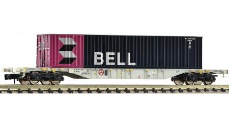 Fleischmann 825208 Containertragwagen BELL, eingestellt bei der SBB