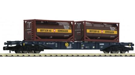 """Fleischmann 825213 Containerwagen CEMAT, beladen mit Container """"Bertschi AG"""""""
