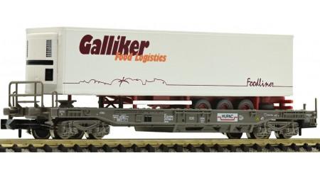 """Fleischmann 845359 Einheitstaschenwagen mit Auflieger """"Galliker Foodliner"""", HUPAC"""