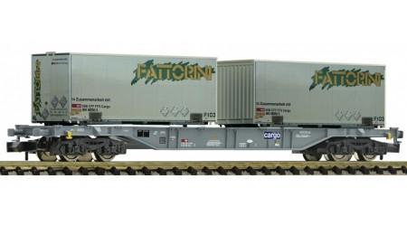 Fleischmann 865242 Containertragwagen, Bauart Sgns, der SBB, Epoche VI