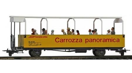 Bemo 3280 110 Offener Aussichtswagen B2100 der RhB mit Preiser Figuren
