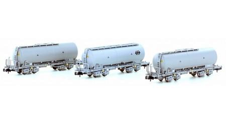 Kato / Hobbytrain 23480 Silowagen-Set Uacs der SBB (3-teilig)