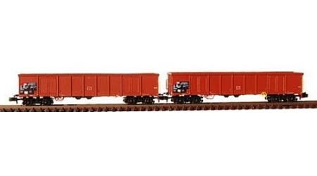 """Kato / Hobbytrain 23408 Offenes Güterwagen-Set """"Eanos"""" braun der SBB"""