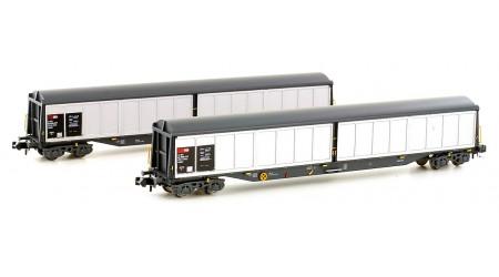Kato / Hobbytrain 23450 Schweizer Schiebewandwagen-Set 4-Achs Habils (2-teilig)