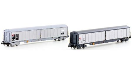 Kato / Hobbytrain 23460 Schweizer Schiebewandwagen-Set 4-Achs Habils SBB (2-teilig)