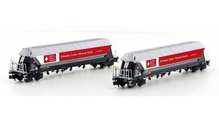 "Kato / Hobbytrain 23469 Getreidesilowagen-Set Set SBB Cargo Tagnpps ""Zuckerwagen"" Ep.V (2-teilig)"