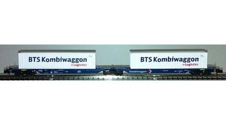 """Kato / Hobbytrain 23700 Kombiwaggon mit 2 Container """"BTS Kombiwaggon"""""""