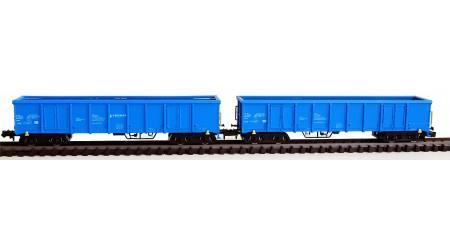 """Kato / Hobbytrain 23415 Off. Güterwagen-Set """"Eanos"""" blau der SBB"""