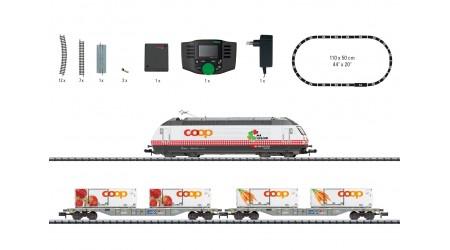 """Minitrix 11157 Digital-Startpackung mit Güterzug SBB """"Coop"""""""