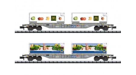 "Minitrix 15488 Containertragwagen-Set ""Lebensmittel-Kühltransport"""