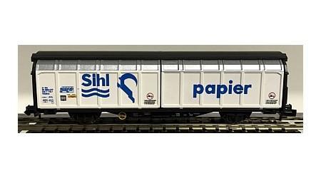 """Minitrix 13874 Schiebewandwagen SBB """"Sihl Papier"""""""