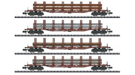 """Minitrix 15484 Güterwagen-Set """"Stahltransport"""" der DB"""