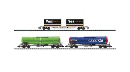 Minitrix 15651 Güterwagen-Set SBB und HUPAC