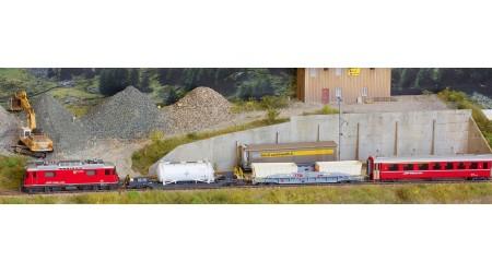 Bemo 7258 151 Zugpackung mit Güterzug der RhB analog