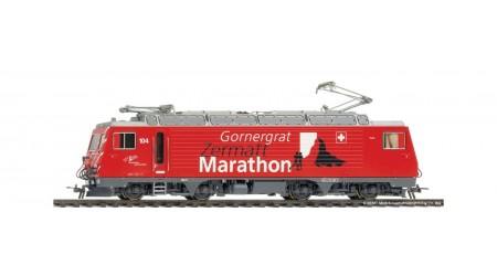 """Bemo 1362 294 MGB HGe 4/4 II 104 Werbelok """"Gornergrat Zermatt Marathon"""" mit Sound"""