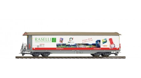 """Bemo 2288 142 Schiebewandwagen der RhB """"Raselli"""""""