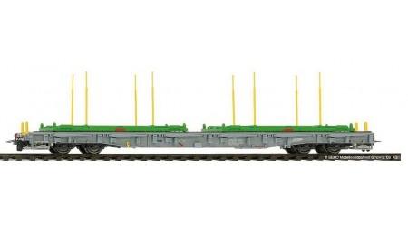 Bemo 2291 151 RhB R-w 8381 ACTS-Tragwagen mit Holzverladegestellen