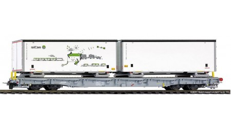 Bemo 2291 163 RhB R-w 8383 ACTS-Tragwagen