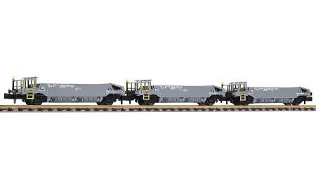 Liliput 260101 Schotterwagen-Set 3-teilig, Epoche V, Wagen ohne Beladung