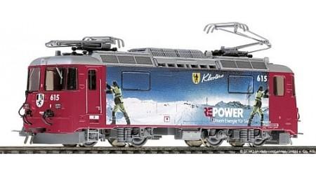 "Bemo 1258 155 E-Lok Ge 4/4 II Nr. 615 rot ""RE Energie"" der RhB"