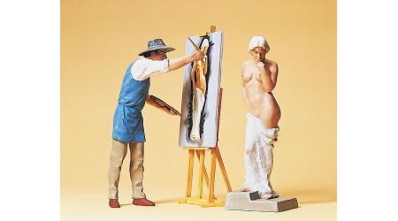 Preiser 45095 Kunstmaler und Modell