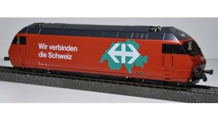 """HAG 280 Elektrolokomotive Re 460 der SBB """"Wir verbinden die Schweiz d/f"""""""
