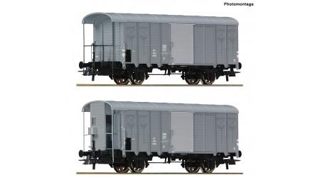 Roco 76646 - 2-teiliges Set: Gedeckte Güterwagen der SBB