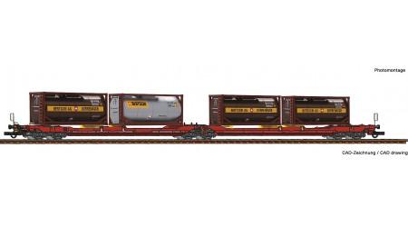 Roco 77389 Doppeltaschen-Gelenkwagen T3000e, ÖBB/RCW