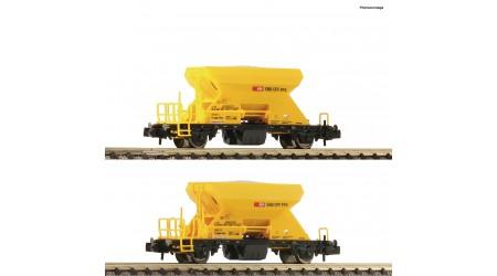 Fleischmann 822920 Schotterwagenset Gattung Fccnpps (Xns), der Schweizerischen Bundesbahnen (SBB Infrastruktur)