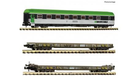 Fleischmann 827112 - 3teiliges Set Rollende Autobahn der RAlpin AG
