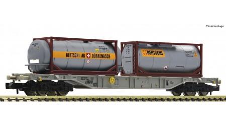 Fleischmann 825214 Containertragwagen Gattung Sgnss, der Ahaus Alstätter Eisenbahn AG.