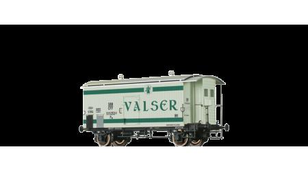 Brawa 47873 Gedeckter Güterwagen mit Bremserhaus K2 Valser der SBB mit AC-Achsen