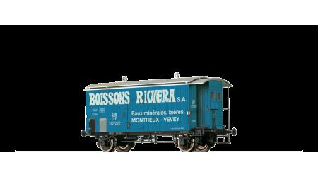 Brawa 47879 Gedeckter Güterwagen mit Bremserhaus K2 Boissons Riviera S.A. der SBB mit AC-Achsen