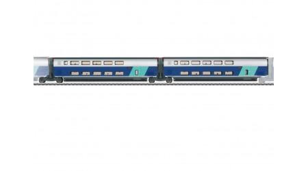 Märklin 43433 Ergänzungswagen-Set 2 zum TGV Euroduplex