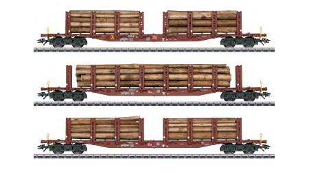 Märklin 47146 Rungenwagen-Set Holztransport