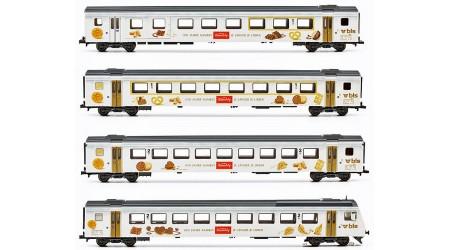 """Liliput 330533 - 4 teiliges Personenwagen Set """"Kambly"""", EW III der BLS DC"""