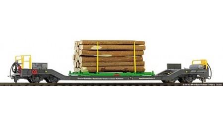 Bemo 2289 151 RhB Sbk-v 7711 Transportwagen mit Holzverladegestell