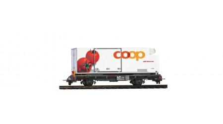"Bemo 2269 120 Containerwagen Lb-v 7881 mit Coop-Container ""Tomate"""