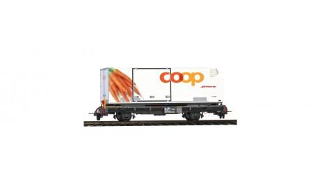 "Bemo 2269 127 Containerwagen Lb-v 7877 Coop-Container ""Karotte"""