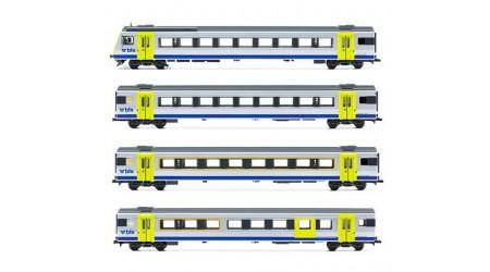 """Liliput 330531 - 4 teiliger Regionalzug der BLS EW III """"Omega Logo"""" ACDC"""