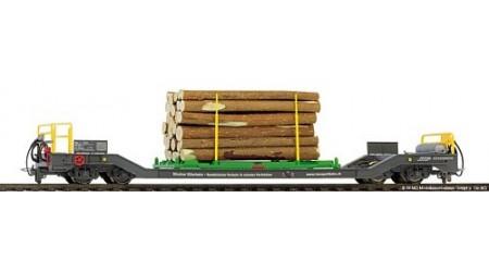 Bemo 2289 154 RhB Sbk-v 7714 Transportwagen mit Holzverladegestell