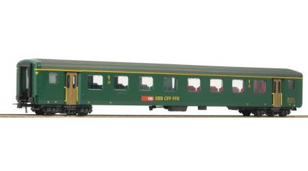 Roco 74569, 74570, 74572, 74574 - 4 teiliges Set Schnellzug- Gepäckwagen EW II der SBB, Epoche V