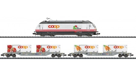 """Minitrix 11638 Zug-Set """"Lebensmittel-Kühltransport Coop"""""""