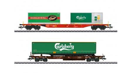 """Märklin 47109 KLV-Güterwagenset """"Carlsberg und Tuborg"""""""